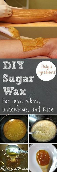 #DIY Sugar Wax For Legs, Bikini, Underarms, and Face! Sugar + water + lemon juice = the BEST #DIYwaxing method you'll ever try! | DIY Beauty Recipes | DIY Beauty Tips | DIY Facail