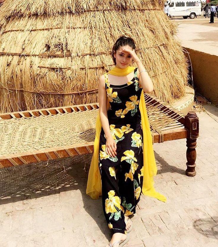 Image result for yellow punjabi salwar suits