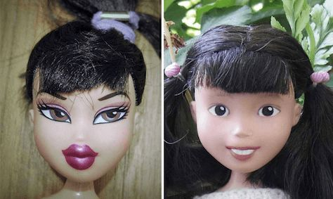 Australian Mum Removes The Make Up On Dolls To Give Them A More Realistic Look.