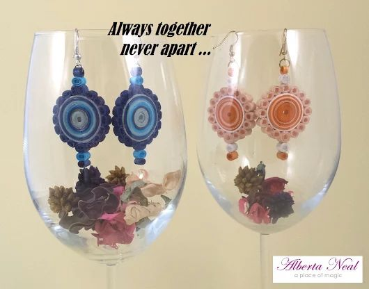 VIDEO #tutorial about how to make those beautiful #earrings: http://albertaneal.com/portfolio/round-earrings/  #quilling