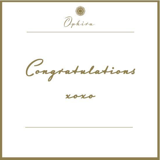 Congratulations xoxo