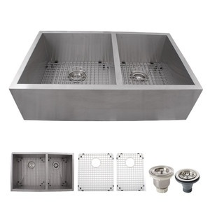 farmhouse stainless steel sink, with wire inserts KITCHEN ...