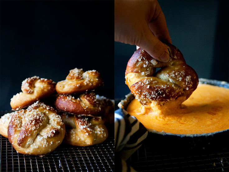 Beer Pretzels with Chipotle Queso - Miri in the Village