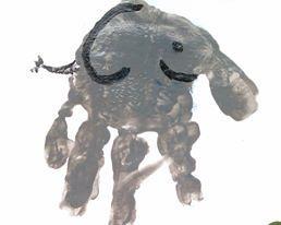 elephant empreinte main