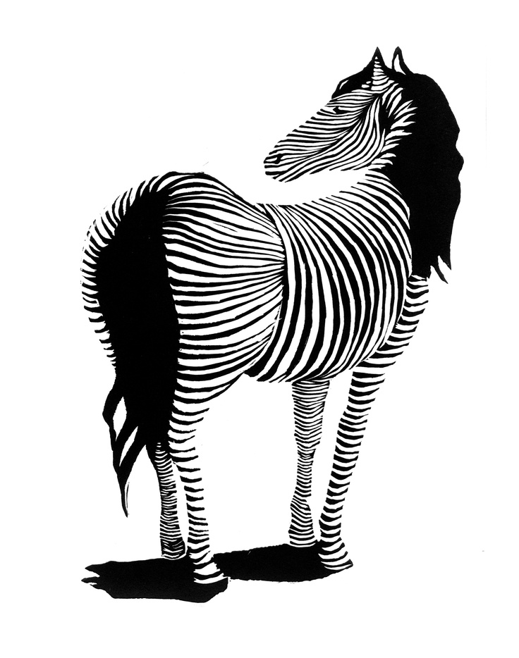 Zebra | Linocut