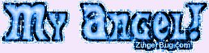 Angel Glitter Graphics and Comments   Glitter Graphic Comment: My Angel Blue Glitter Text