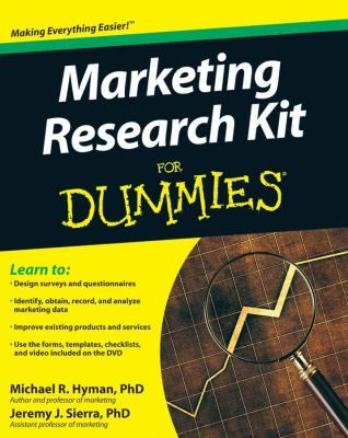 Sure, access to data is faster and easier to obtain than ever before, but how do you cut through the clutter of information to find what's most useful and organize it to suit your purposes? Marketing Research Kit For Dummies supplies a brimming box of tools that help you mine mountains of data, find the sources you need, and focus your marketing plan.