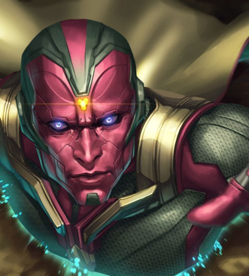 Marvel Future Fight: Vision – by JeeHyung lee More from this series of banners for Marvel Future Fight on my tumblr [here] View Original Source Here
