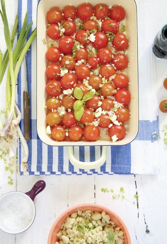 Tomato and cheese crumble, delicious¡¡