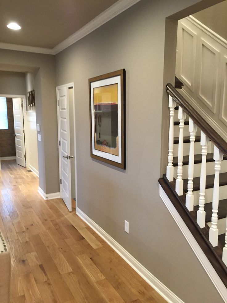 Sherwin Williams Poised Taupe.  Looks way more greenish here than it does in real life