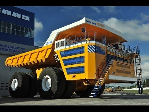 Belaz 75710 . The biggest dump truck in the World