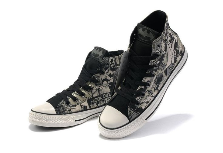 5f9975a1858b Converse Shoes Black Carbon Grey DC Comics Batman Womens Mens Canvas Hi  Sneakers. All Star ...