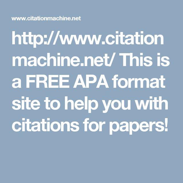 free apa formatting