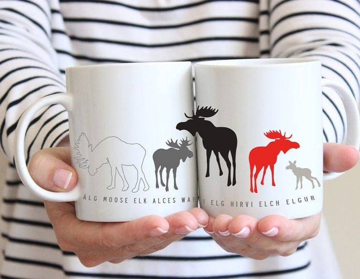 Elk mugs from I love design and Citronelles