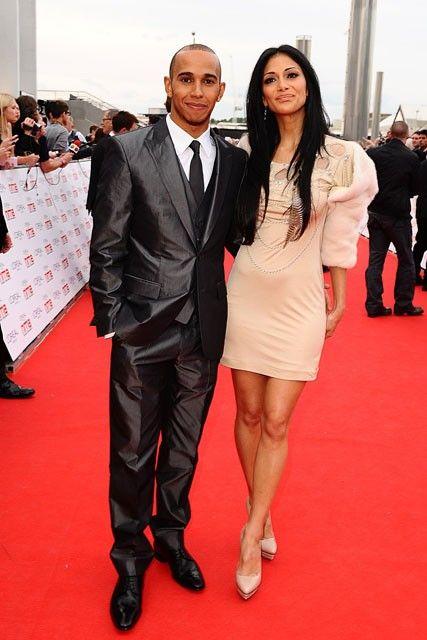Nicole Scherzinger with her boyfriend Lewis Hamilton...