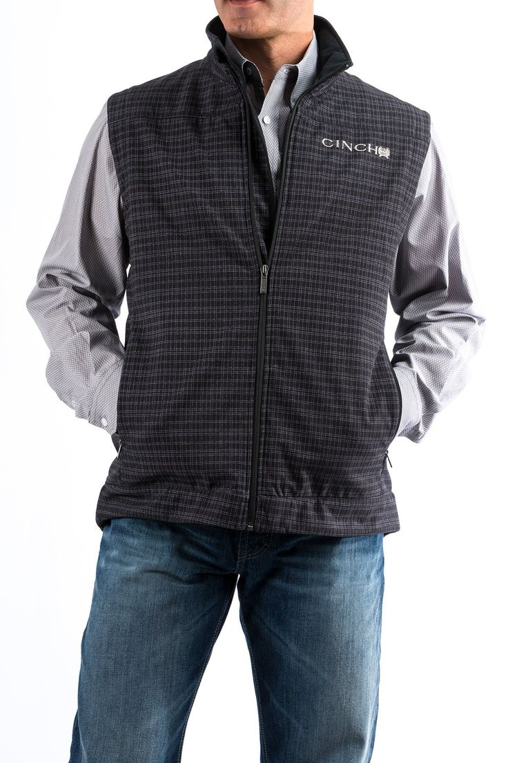 Cinch Men S Black Plaid Concealed Carry Vest Concealed Carry Vest Concealed Carry Clothing