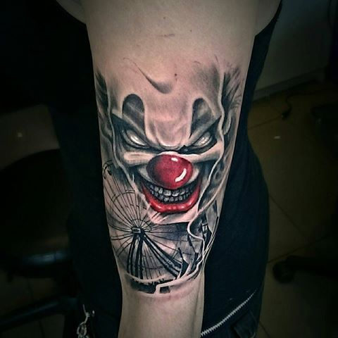 189 best images about scary clown tattoos on pinterest. Black Bedroom Furniture Sets. Home Design Ideas