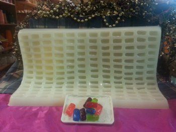 Hard Candy Bites Embeds 156 Cavity Silicone Mold 8006