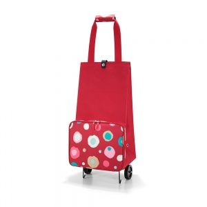 Reisenthel Folding Shopping Trolley Ruby Funky Dots