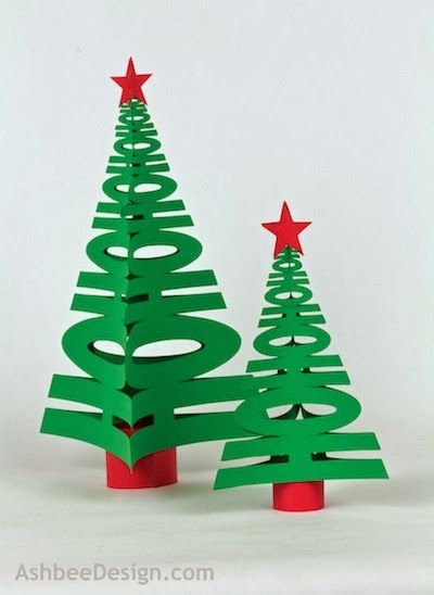 Paper Craft Project for your Holiday Decor: Ashbee Design Silhouette Projects: 3D HoHoHo Tree Silhouette Tutorial