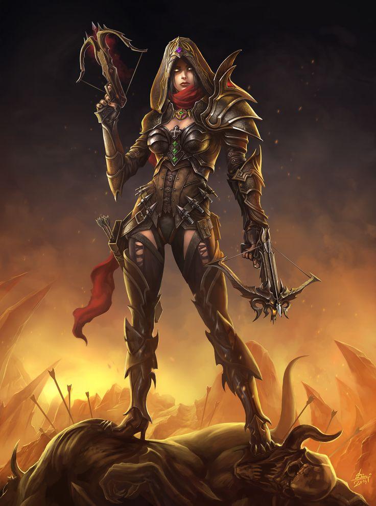 Diablo III - Demon Hunter by hunqwert.deviantart.com on @deviantART