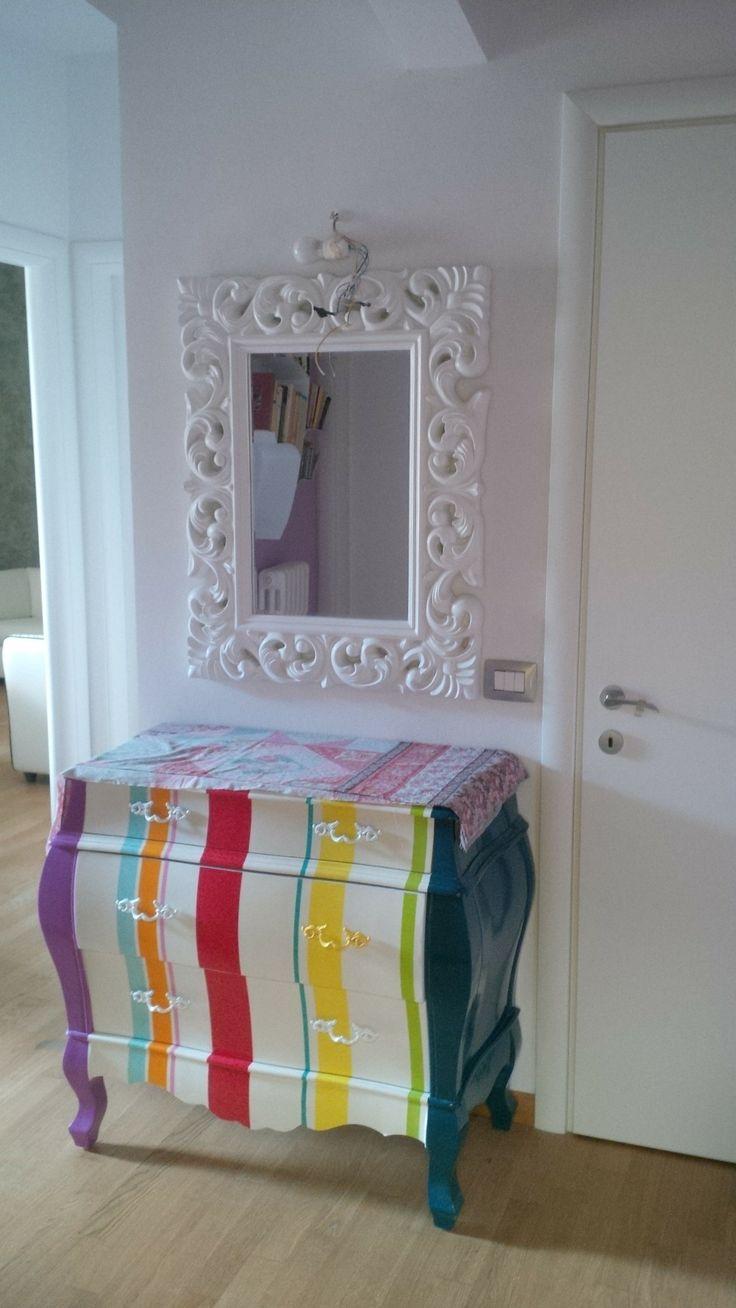 BEAUTY AND DESIGN ingresso con mobile seletti e specchio intarsiato