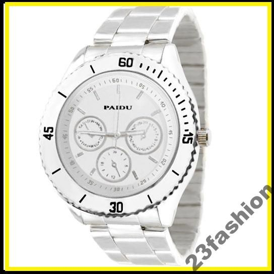 Srebrny zegarek PAIDU Monaco jelly watch HIT