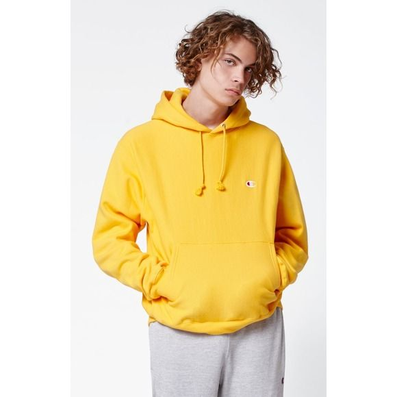 Image result for champion reverse weave hoodie yellow