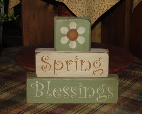 Spring Blessings Daisy Stacking Blocks