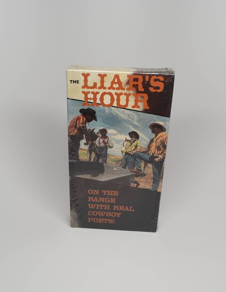 The Liar's Hour Cowboy Poetry & Music  ~ Cowboy Poetry ~ The Liar's Hour Brand New VHS ~ Cowboys ~ Real Cowboy Poets ~ Poetry and Music by REDSTONEVINTAGE on Etsy