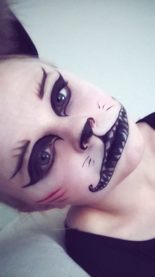 makijaż - kotek na Halloween