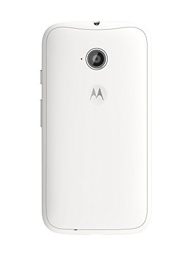Motorola Moto E (2nd Generation) – White – 8 GB Unlocked Phone  Motorola Moto E (2nd Generation) - White - 8 GB Unlocked Phone  Start getting more without spending more. Like a big, brilliant display that's the sharpest in its class. Built-in protection from scrapes, spills, and smudges. A fast quad-core processor with 4G LTE, plus the latest version of Android OS, Lollipop. Not to mention battery life that lasts a full day, so you can get on with yours. Choose to start your adventur..