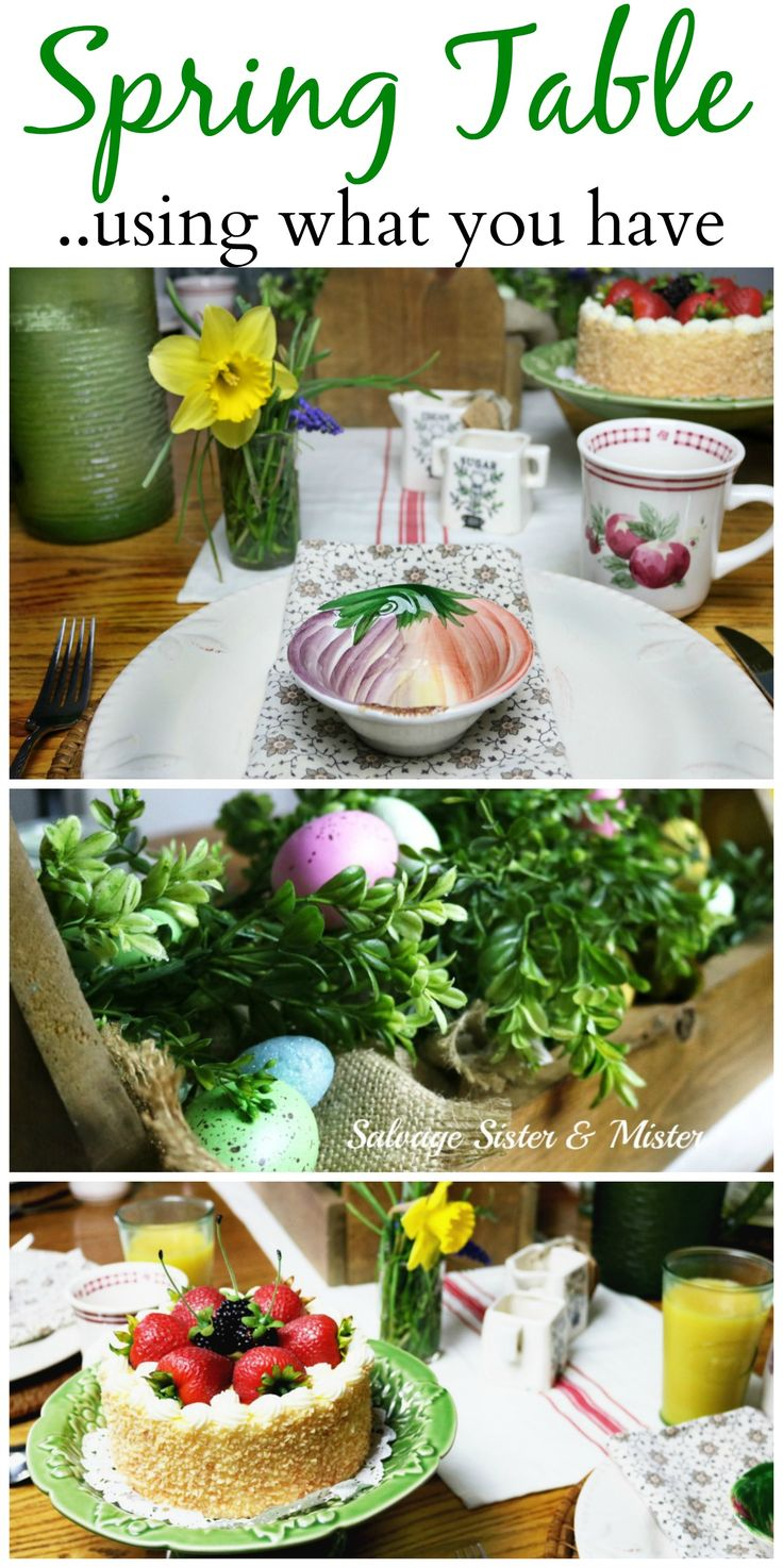 Spring Table Setting Using What You Have