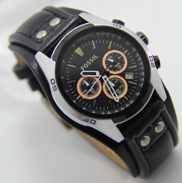 Fossil SIlver Orange Black Leather (3.8cm) IDR 380K