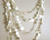 Off White Garland - Wedding Garland - Bridal Shower Garland - Party Garland - Wedding Decoration - String of Pearls