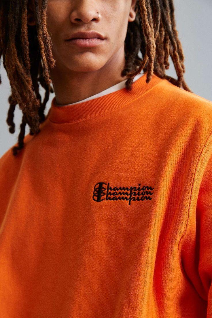 Champion Reverse Weave Fleece Crew Neck Sweatshirt - Urban Outfitters