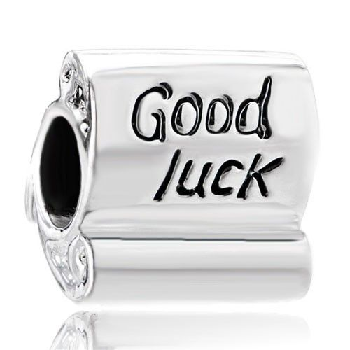 Good Luck Scroll - 925 Sterling Silver Charms Bead - Fits Pandora Chamilia etc style Charms Bracelets Pandora Chamilia Compatible | Charmsstory.com #charms #pandora #luckycharms #sterling #chamilia #goodluck