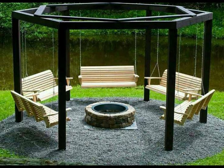 fire-pit with swings