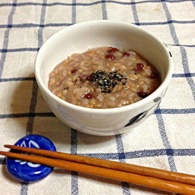 三日間の断食明けに、炒り玄米で小豆粥、身体にしみる美味しさです(^。^) - 20件のもぐもぐ - 小豆粥 by megumuyuuu