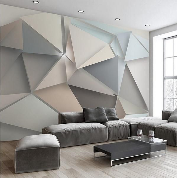 Stylish Modern 3d Abstract Geometric Wallpaper Home Or Business