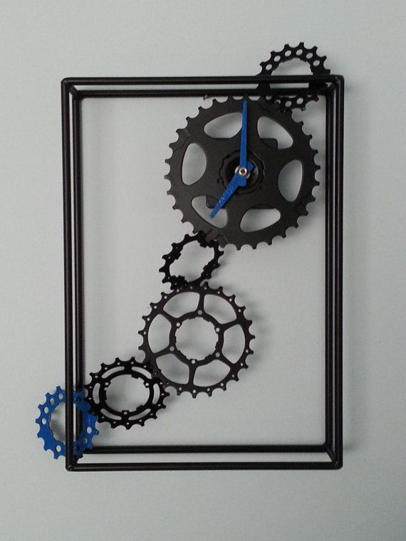 bicycle gears clock by davehardell on Etsy