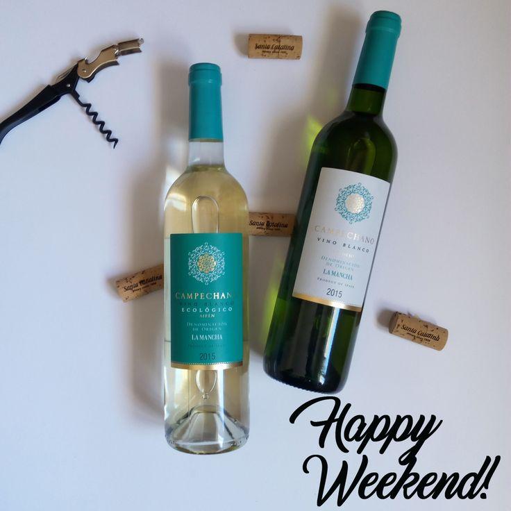 ¡¡Happy Weekeend!! ¡¡Feliz Fin de Semana!! #Campechano  #SantaCatalina #Verdejo #Airén #VinosdeCastillaLaMancha #VinoEcológico #OrganicWine #VinoBlanco #WhiteWine #YoungWhiteWine #vinoblancojoven #dolamancha #CastillaLaMancha #LaSolana  http://www.santacatalina.es/