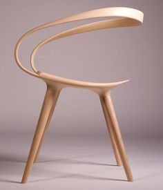 The Velo Chair Uses A Single Piece Of Bent Wood As The Backrest