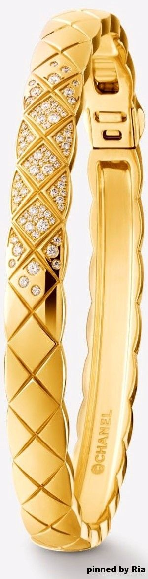 Chanel Fine Jewelry Spring Summer 2017 l 18K Yellow Gold and Diamond Bracelet