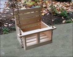 Free Woodworking Plans - Child's Swing                                                                                                                                                                                 More
