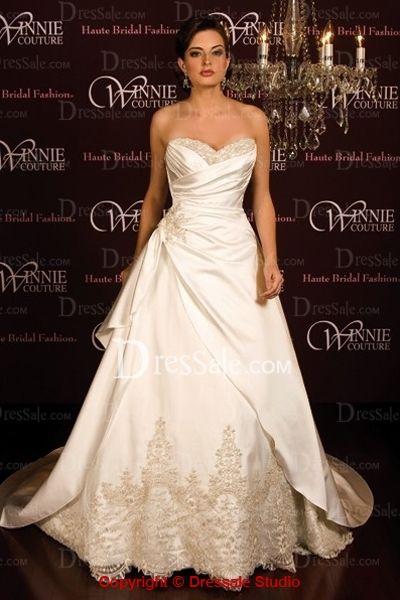 Brilliant Princess Bridal Dress Features Sweetheart Neckline And Applique Details Quality Unique Wedding Dresses