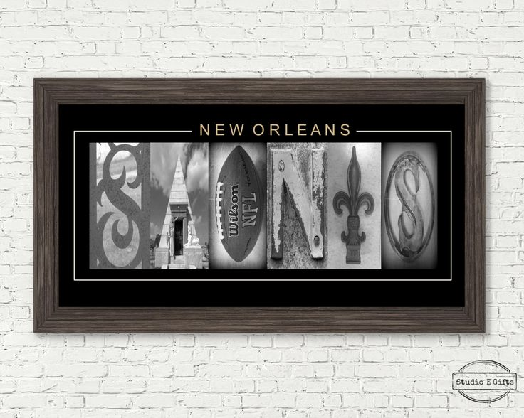 NEW ORLEANS SAINTS Sign - Best Valentines Gift Man - Saint football team Sign - New Orleans saints football - football sign -saints football by StudioEGifts on Etsy