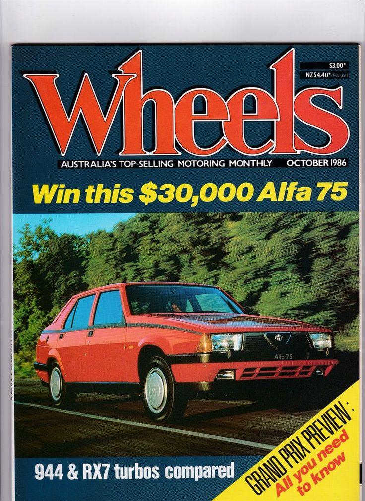 Vintage Car Magazine October 1986 Wheels Magazine Men's Gift 1980s Vintage Car Magazine Man Gift Idea 30th Birthday by SuesUpcyclednVintage on Etsy