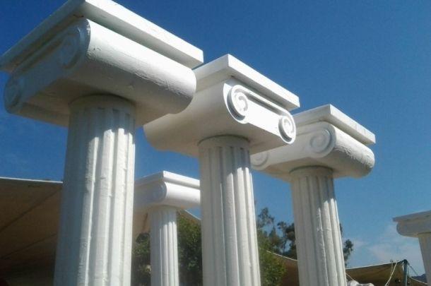 Faccio: Ti Insegno a Creare Colonne di Polistirolo per 5 euro #scultura #colonne #polistirolo #scenografia #lavorare #Artigianato