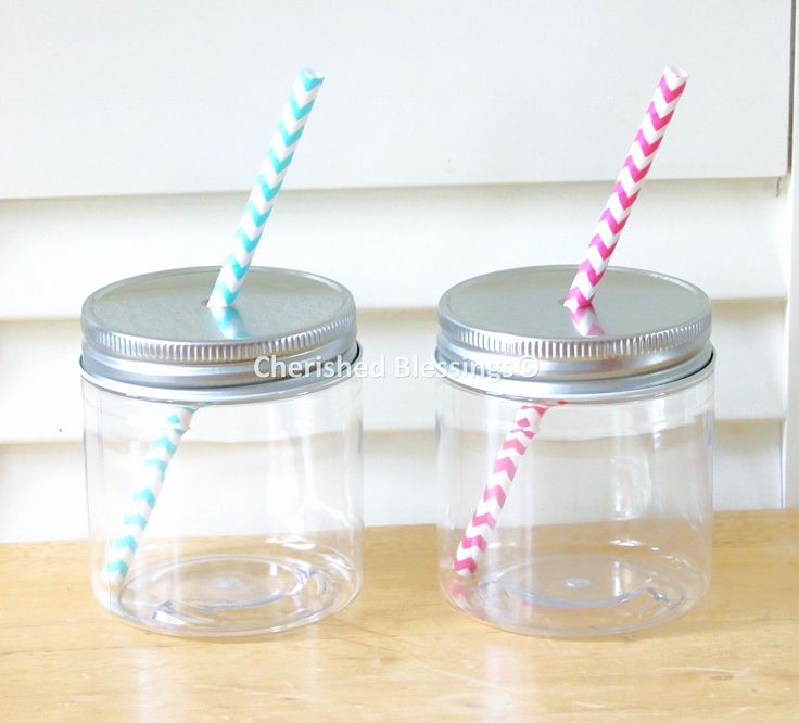Plastic Mason Jars, Mason Jar Lids with Straw Holes, Straw Lids, Kids size, Kids Party Cups, 8oz Mason Jars, Rustic, Favors, Table Setting by CherishedBlessings on Etsy https://www.etsy.com/listing/202650486/plastic-mason-jars-mason-jar-lids-with